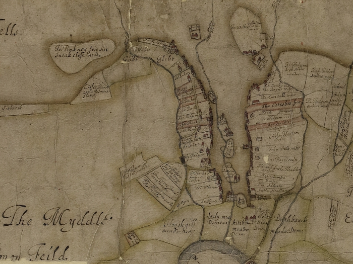 Oldest map: manor of Eggleston, 1614 (Ref No. D/Bo/A 945)