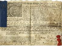Apprenticeship indenture, 1754 (Du 6/6/183) - Copyright © Durham County Record Office.