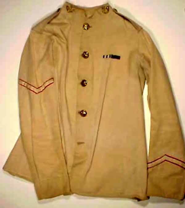Khaki dress tunic, DLI no. 1001/1 (courtesy of the DLI Museum) - Copyright © Durham County Record Office.
