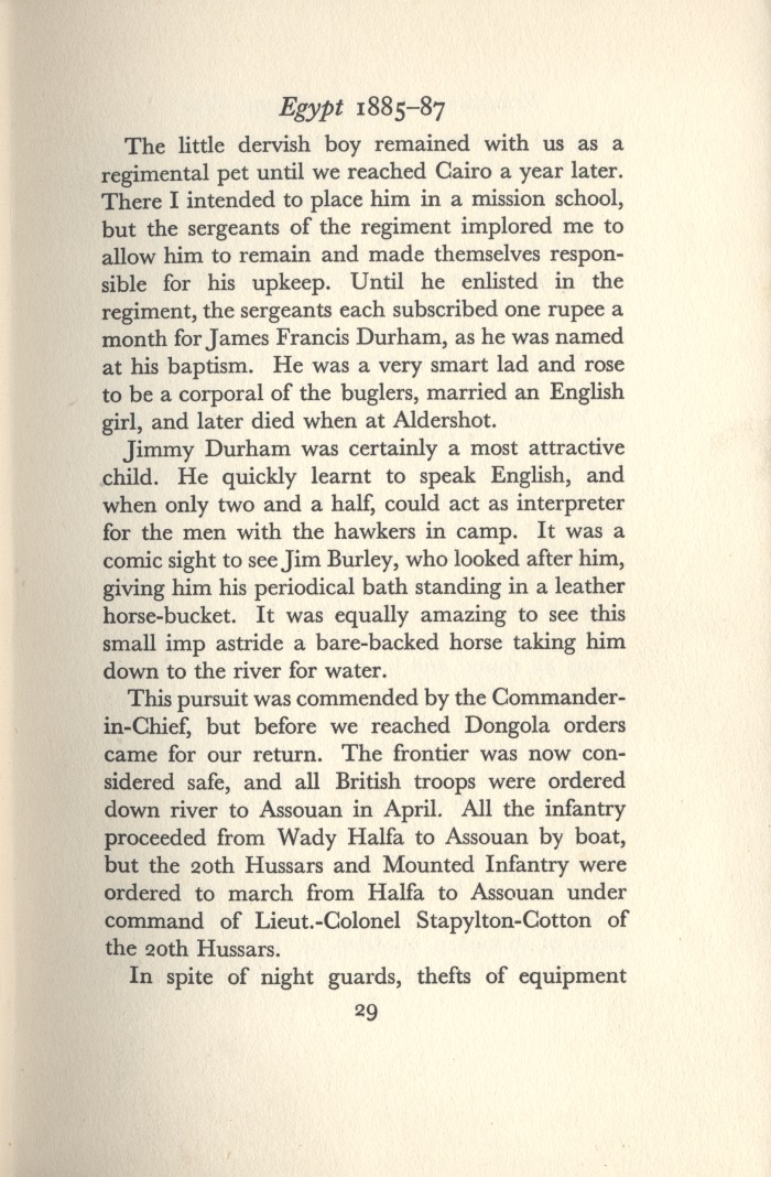 De Lisle, Reminiscences, p.29 (Courtesy of the DLI Museum) - Copyright © Durham County Record Office.
