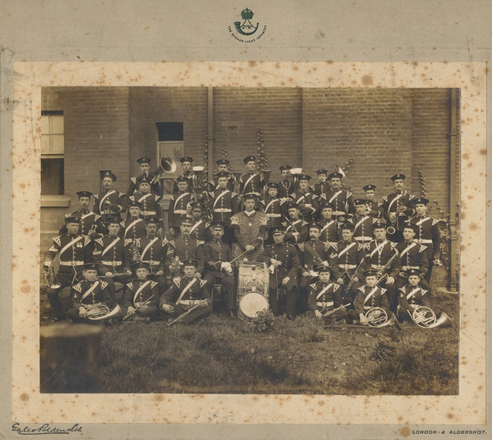 Photograph of band [1900-1910] (D/DLI 7/194/10) - Copyright © Durham County Record Office.