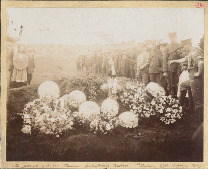 Photograph of grave, 1910 (D/DLI 7/194/12) - Copyright © Durham County Record Office.