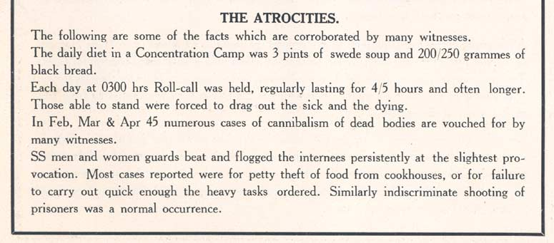 'The Story of Belsen', p.10, The atrocities (D/DLI 7/404/10) - Copyright © Durham County Record Office.