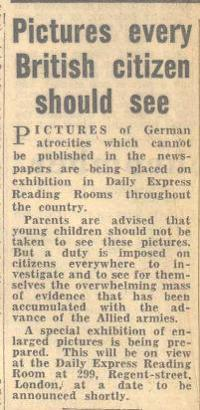 'The Daily Express', 21 April 1945 (D/DLI 7/404/27) - Copyright © Durham County Record Office.