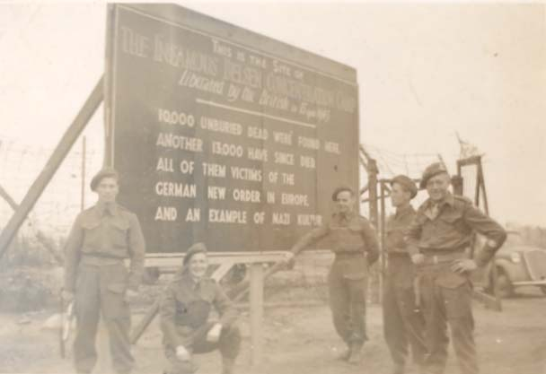 Sign erected at Belsen by British soldiers, 1945 (D/DLI 7/404/43) - Copyright © Durham County Record Office.