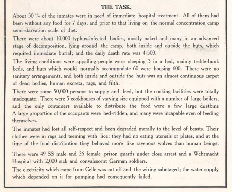 'The Story of Belsen', p.4, The task (D/DLI 7/404/10) - Copyright © Durham County Record Office