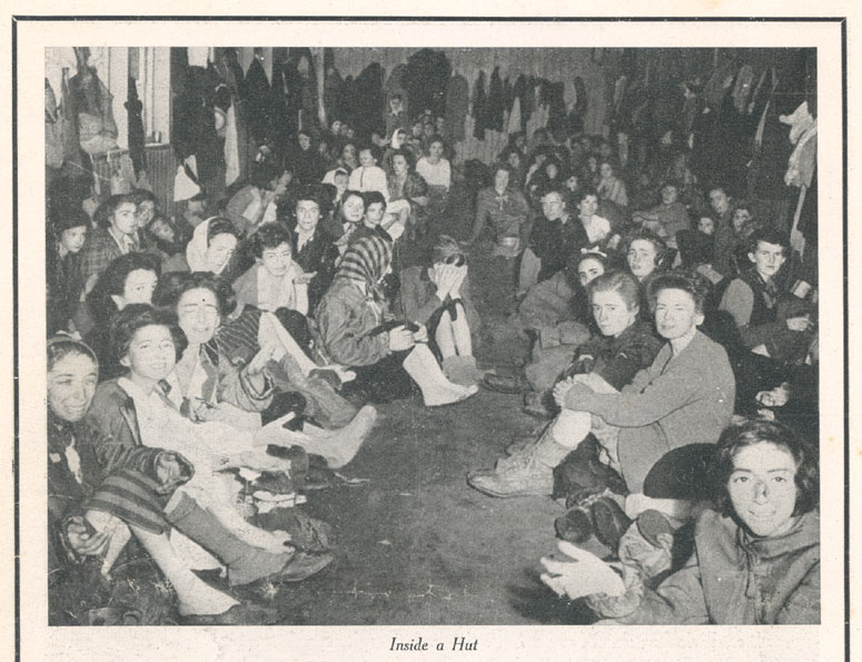 'The Story of Belsen', p.6, Photograph of the inside of a hut (D/DLI 7/404/10) - Copyright © Durham County Record Office.