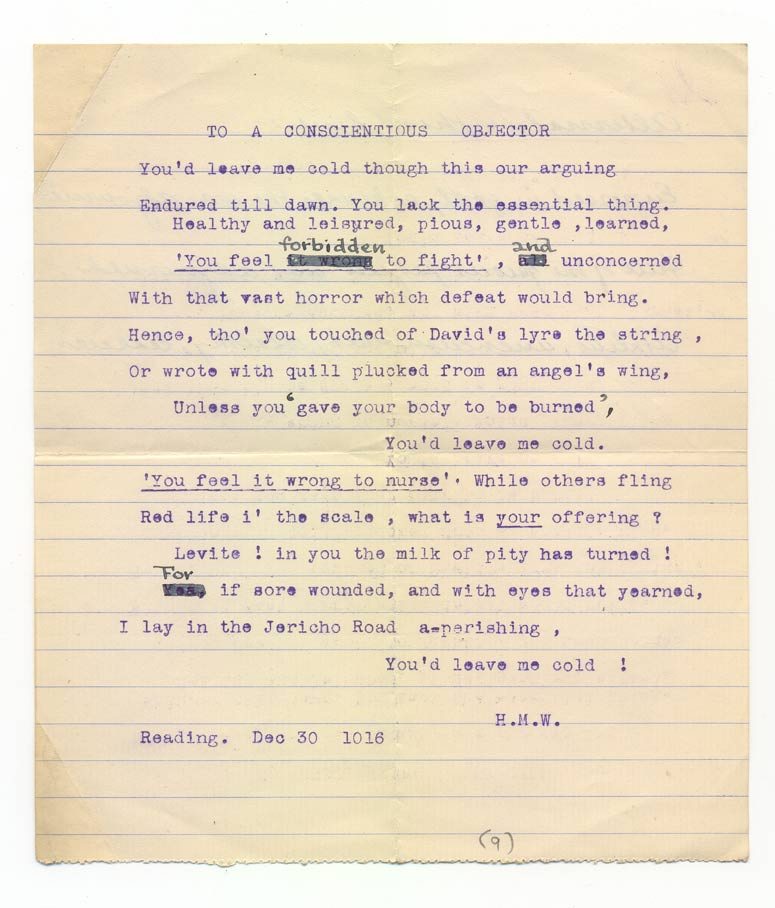essay on conscientious objectors Conscientious objectors of world war i this essay conscientious objectors of world war i and other 64,000+ term papers, college essay examples and free essays are available now on reviewessayscom.