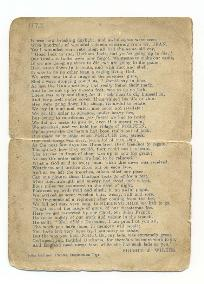 Poem 'The Second Battle of Ypres' by Signal Sergeant Wilkes, 1915, p.4 (D/DLI 2/5/17) - Copyright © Durham County Record Office.