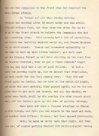 Letter from Second Lieutenant Gamble, 23 December 1915, p.4 (Acc. 3290(D)) - Copyright © Durham County Record Office.