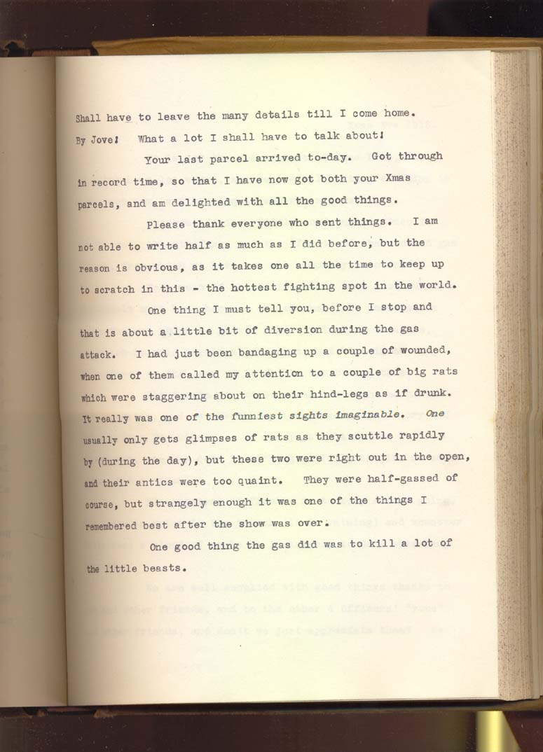 Letter from Second Lieutenant Gamble, 23 December 1915, p.6 (Acc. 3290(D)) - Copyright © Durham County Record Office.