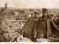 Photograph of Shrapnel Corner near Ypres, Belgium, April 1915 (D/DLI 2/6/10(316)) - Copyright © Durham County Record Office.