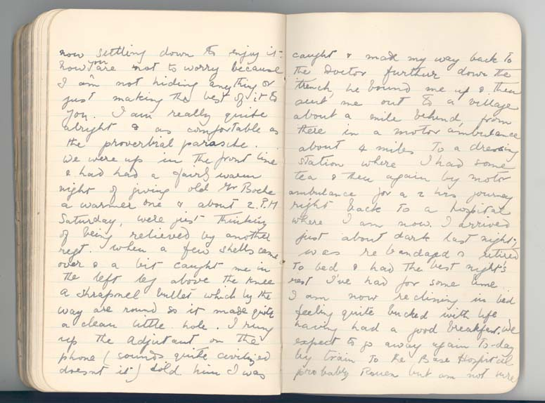 Letter from Lieutenant Rees, 6 August 1916, p.4 (D/DLI 7/560/4) - Copyright © Durham County Record Office.
