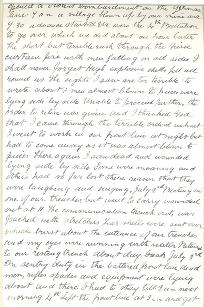 Extract from Private Roberts' diary, 1 July 1916 (D/DLI 7/577/2) - Copyright © Durham County Record Office.