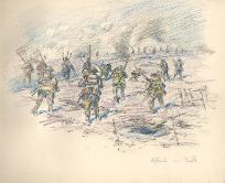 Sketch of the attack on the Butte de Warlencourt by Captain Mauchlen, November 1916 (D/DLI 7/920/10(5) - Copyright © Durham County Record Office.
