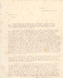 Letter from Lieutenant Catford, 25 September 1916, p.1 (D/DLI 7/115/15) - Copyright © Durham County Record Office.