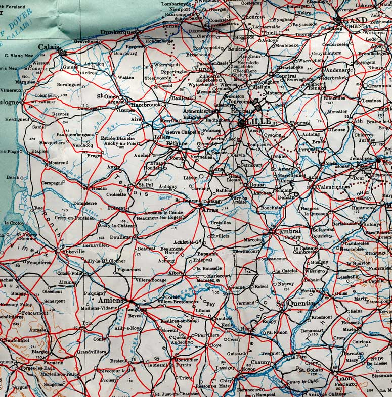 maps map of northern france and belgium