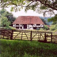 Tudor farmhouse - photograph provided by The Weald and Downland Open Air Museum, Chichester, West Sussex