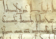 Close up of King John Charter (D/St 1/3/1)