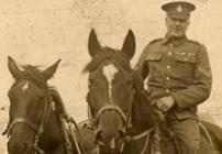 First World War soldier on a horse