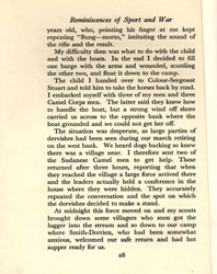 De Lisle, Reminiscences, p.28 (Courtesy of the DLI Museum) - Click to enlarge