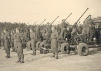 Photograph of 113 LAA Regiment on parade, Germany, 8 May 1945 (D/DLI 7/404/28(55)) - Copyright © Durham County Record Office.