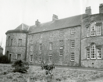 Croxdale Hall, north elevation with private chapel on the left (CC/Planning 1228/4)