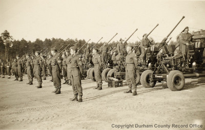 The 113th Light Anti-Aircraft Regiment's Victory Parade, Belsen, 8 May 1945 (D/DLI 7/404/28(55))