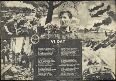 Soldier: The British Army Magazine, VE Day 8 May 1945 - centre pages (D/DLI 12/4/4/21)