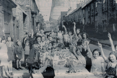 VE Day street party in Brunswick Street, Darlington, 1945 (D/X 1822/16) Image © reproduced with kind permission of Newsquest Media Group Ltd.