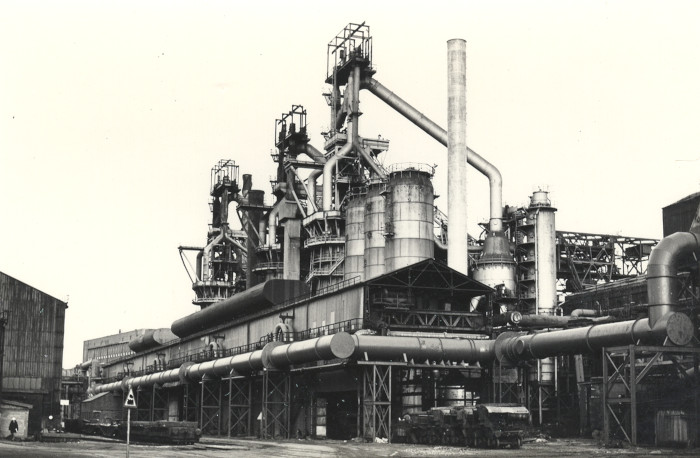 Blast furnaces at Consett Steel Works, c.1980 (ND/De 61/11) - Copyright © Durham County Record Office