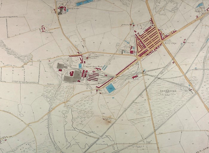 Ordnance Survey plan of Consett, mid-1850s (DT(11.14)A) - Copyright © Durham County Record Office